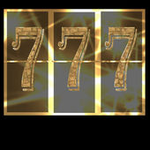 Lucky seven 777 slot machine — Stock Photo