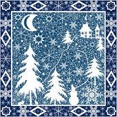 Christmas pillow ornament — Stock Photo