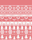 Seamless christmas ornament pattern — Stock Photo