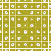 Checkered seamless pattern with flowers — Stock Photo