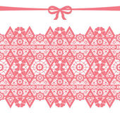 Coral seamless lace — Stock Photo
