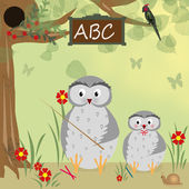 Background with owl school — Stock Photo