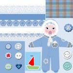 Baby boy arrival card — Stock Photo #37000403