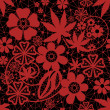 Red seamless lace pattern — Stock Photo