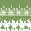 Stock Photo: Seamless christmas ornament pattern