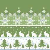 Seamless christmas ornament pattern — Foto Stock