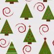 Stock Vector: Seamless Christmas pattern