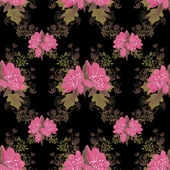 Seamless pattern with pink flowers — Stock Photo