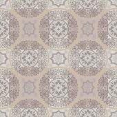 Beige seamless lace pattern background — Stock Photo