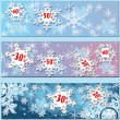 White snowflakes sale with red percentage — Stock Photo