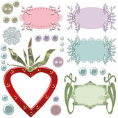 Blank cute frames for text and buttons — Stock Photo