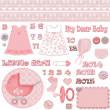 Scrapbook baby shower girl set — Stock Photo #37836959
