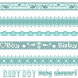 Scrapbook baby boy set with ornament — Stock Photo #38009739