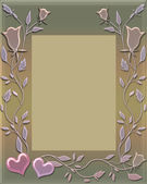 Floral frame with hearts — Stock Photo