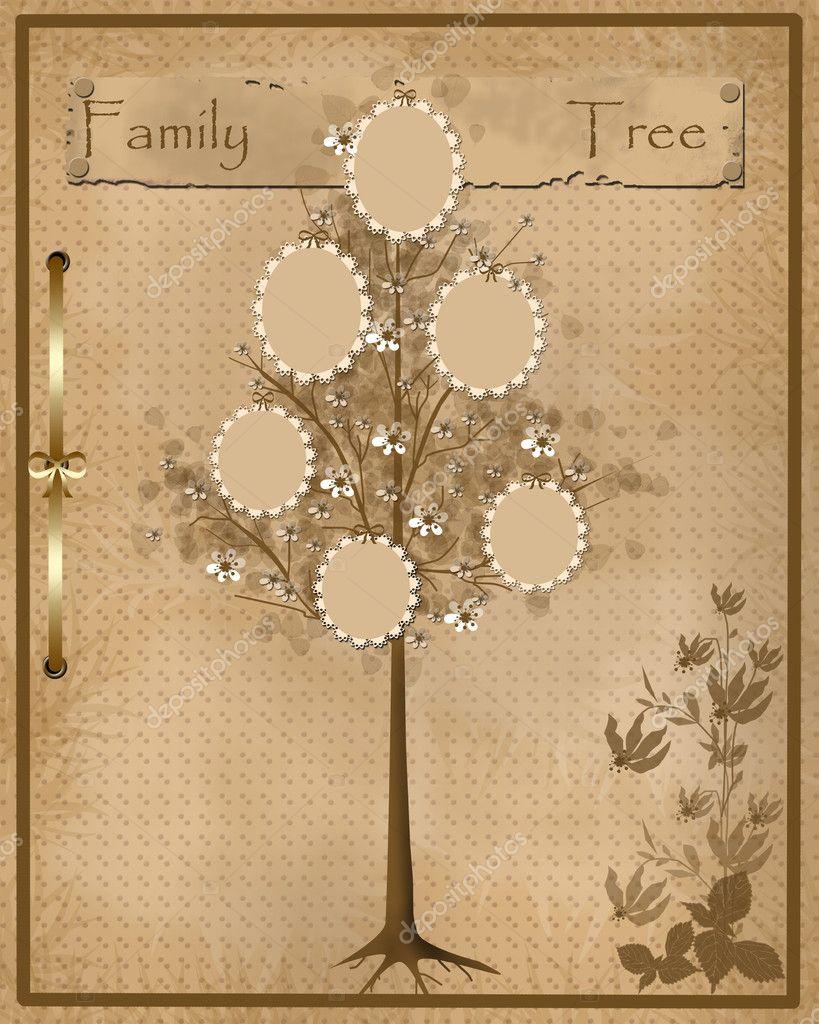 Dise o de rbol geneal gico para tus fotos en marcos - Diseno arbol genealogico ...