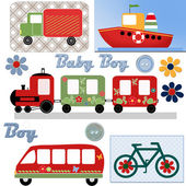 Transport stickers background — Stock Photo