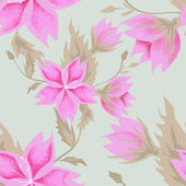 Seamless pink flowers pattern — Stock Photo