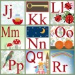 Cute cartoon alphabet — Stock Photo