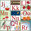 Stock Photo: Cute cartoon alphabet