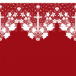 White seamless lace pattern with cross on red — Stock Photo #38257773