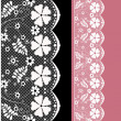 White seamless lace pattern — Stock Photo