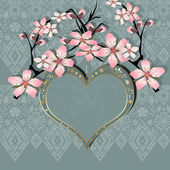 Heart Valentines Day Background frame — Stock Photo