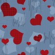 Seamless valentine pattern with hearts — Stock Photo #38617245