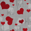 Seamless valentine pattern with hearts — Stock Photo #39055579