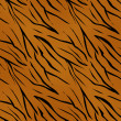 Tiger skin seamless pattern — Stock Photo