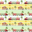 Train seamless kids pattern background — Stock Photo
