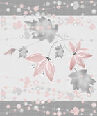 Valentine's day background with flower on grey — Stock Photo