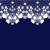White seamless lace lacy pattern texture on purple — Stock Photo