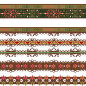 Seamless lace lacy washi tapes pattern on white background — Stock Photo