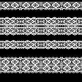 Seamless lace lacy washi tapes pattern on black background — Stock Photo