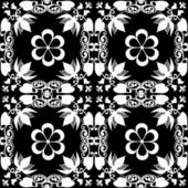 Abstract floral pattern texture on black — Stock Photo