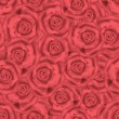 Stock Photo: Seamless roses background pattern