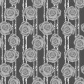 Grijze rozen naadloze patroon — Stockfoto