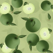Stock Photo: Seamless pattern of green apples