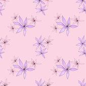 Sem costura padrão floral pink — Fotografia Stock
