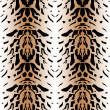 Stock Photo: Tiger wild skin leather seamless pattern
