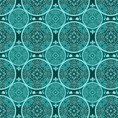 Turquoise abstract seamless lace pattern texture — Stock Photo