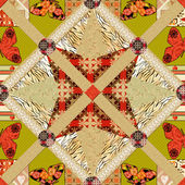 Patchwork seamless pattern texture background — Stock Photo