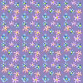 Seamless floral pattern texture on purple — Stock Photo