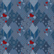 Seamless jeans denim patchwork pattern — Stock Photo