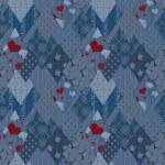 Seamless jeans denim patchwork pattern — Stock Photo