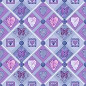 拼凑而成紫色方块无缝花纹纹理 — 图库照片