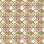 Patchwork seamless pattern texture background with decorative — Stock Photo