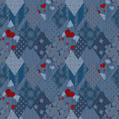 Seamless jeans denim patchwork pattern — Stockfoto