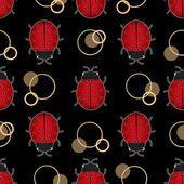 Ladybug seamless pattern — Stock Photo
