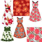 Set of female dresses — Stock Photo